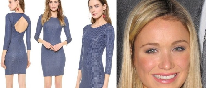 How to Wear the alice + olivia Kal Open Back Dress Like Katrina Bowden