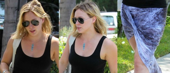 Would You Wear an Asymmetrical Wrap Skirt Like Hilary Duff?