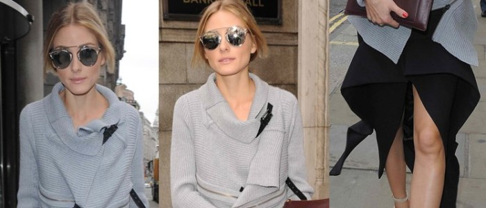 Olivia Palermo Shows the Cool Girl Trick to Wearing Asymmetrical Skirt