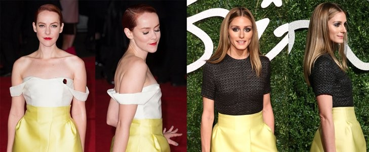 Olivia Palermo and Jena Malone in Emilia Wickstead Skirt – Who Wore it Better?