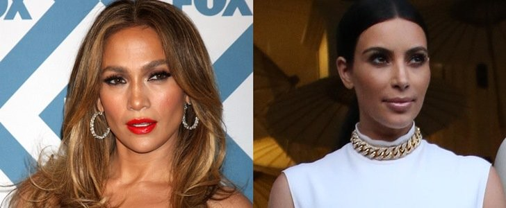 Who Looks Best in a Leather Skirt: Kim Kardashian or Jennifer Lopez?