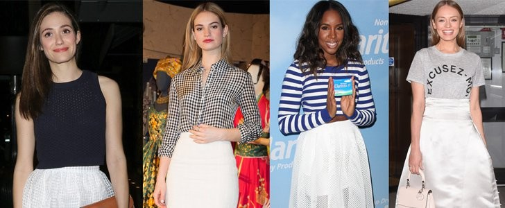 5 Easy and Wearable Ways to Style Your White Midi Skirt This Spring