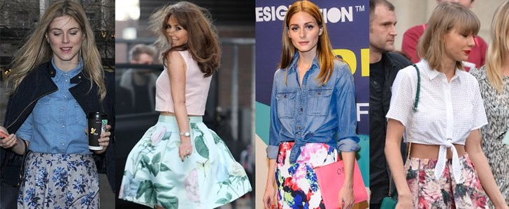5 Feminine Ways to Wear Your Floral Skirt as Seen on Taylor Swift, Olivia Palermo and More!