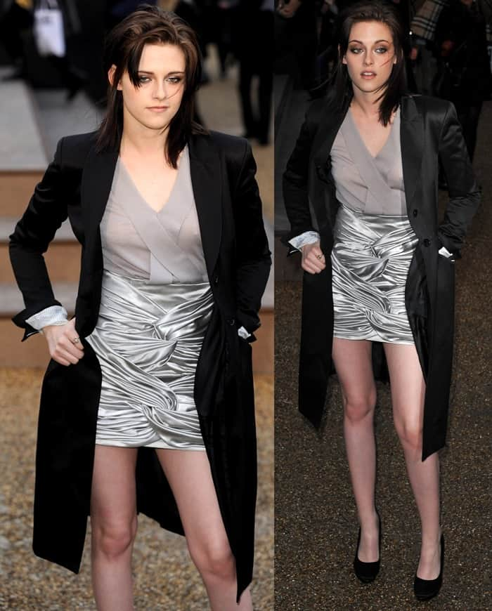 Kristen Stewart at London Fashion Week Autumn/Winter 2010 - Burberry Prorsum - held at the Chelsea College of Art and Design on February 23, 2010