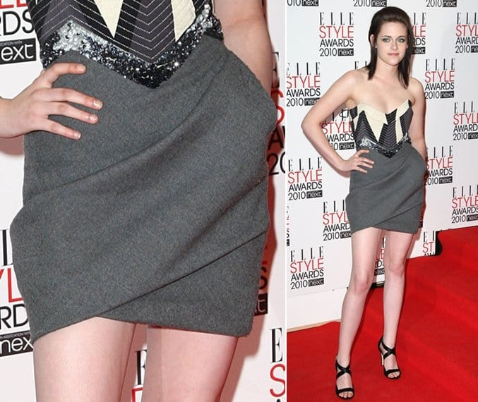 Kristen Stewart at the ELLE Style Awards at the Grand Connaught Rooms in London on February 22, 2010