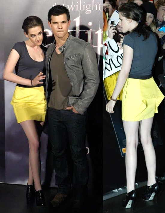 Kristen Stewart and Taylor Lautner conduct a meet-and-greet and Q&A session with fans at Luna Park