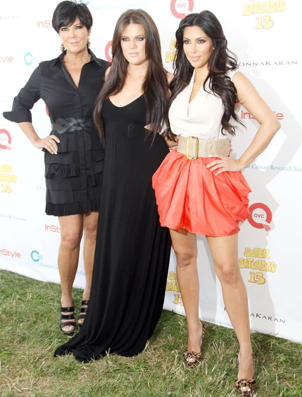 Kim Kardashian, Khloe Kardashian and Kris Jenner attend Super Saturday 13 designer garage sale to Benefit Ovarian Cancer Research Fund hosted by InStyle Magazine at Nova's Ark Project in Water Mill, New York on July 31, 2010