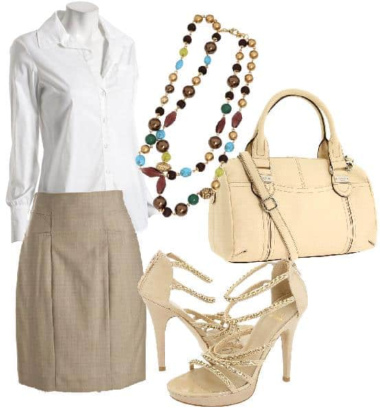 Pencil skirt outfit inspired by Ivanka Trump