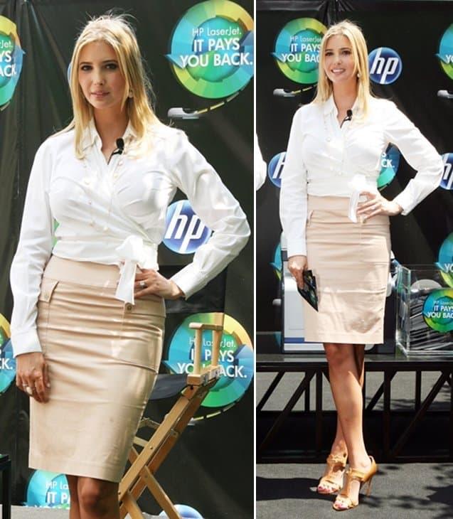 Entrepreneur Ivanka Trump attends HP's LaserJet Pays You Back campaign
