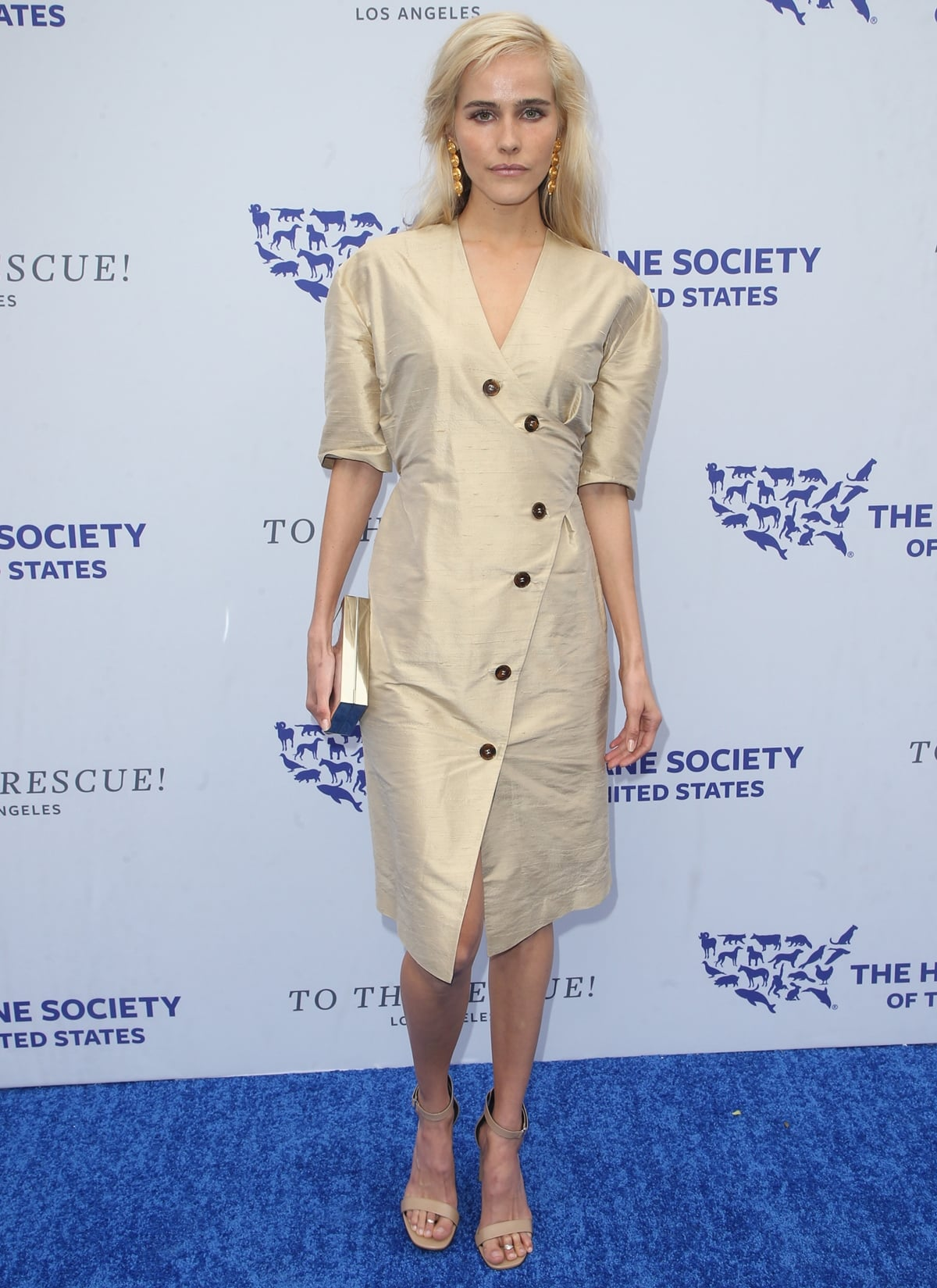 Isabel Lucas attends The Humane Society of The United States' to The Rescue! Los Angeles Gala