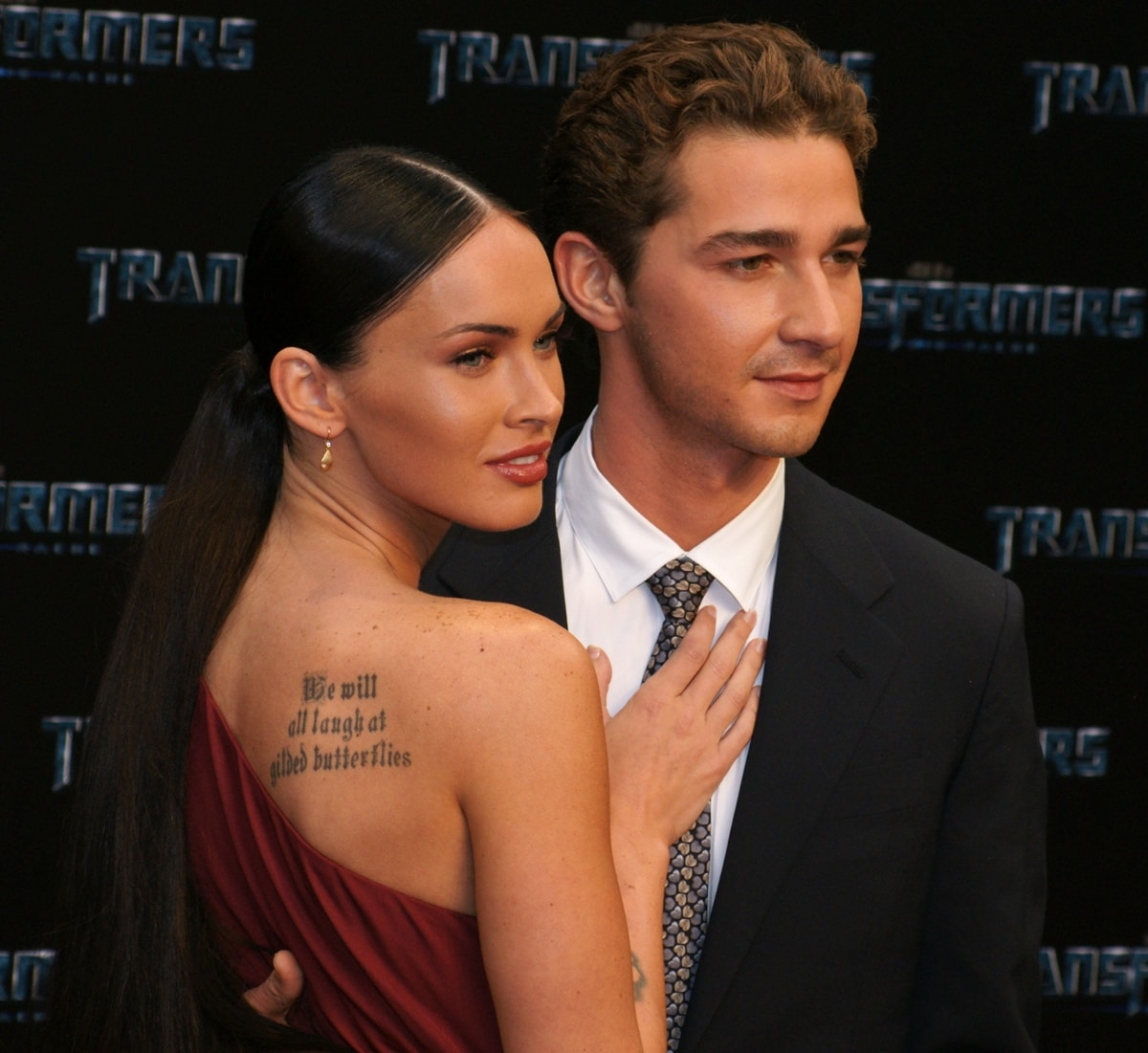 Shia LaBeouf and Megan Fox attend the German premiere of Transformers: Revenge Of The Fallen