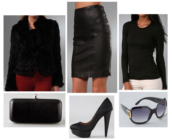 Leather outfit inspired by Kate Moss