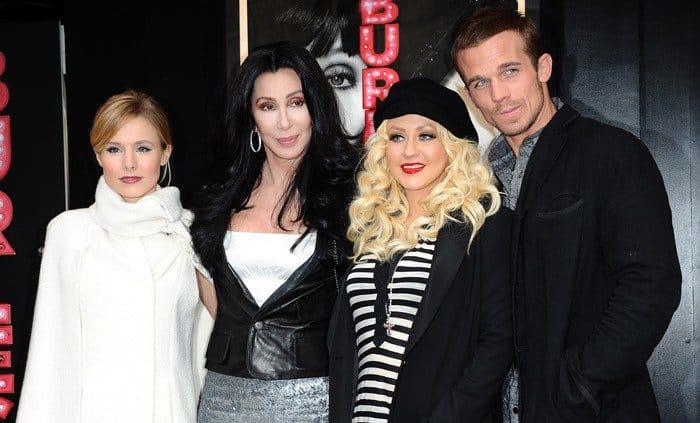 Kristen Bell, Cher, Christina Aguilera and Cam Gigandet