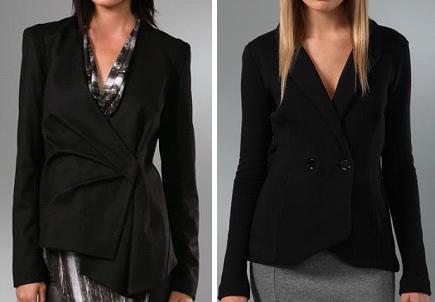 Helmut Lang Fold Jacket and Alexander Wang Back Cutout Blazer