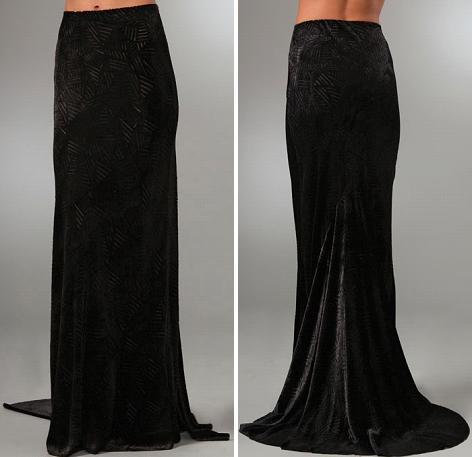 Kimberly Ovitz Perry Velvet Skirt