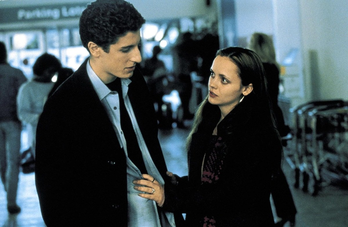 Jason Biggs as Rafe and Christina Ricci as Elizabeth Wurtzel in Prozac Nation