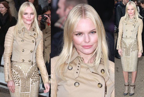 Kate Bosworth attends the Burberry Prorsum Show at London Fashion Week Autumn/Winter 2011