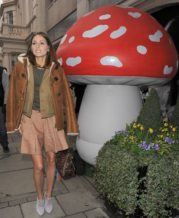 Olivia Palermo attends the Mulberry Salon Show at London Fashion Week Autumn/Winter 2011