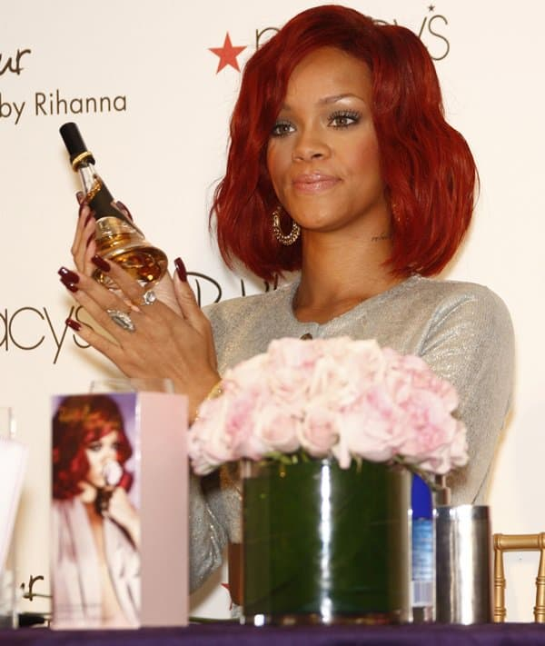 Rihanna celebrates the launch of her first fragrance 'Reb'l Fleur' at Macy's Lakewood Mall