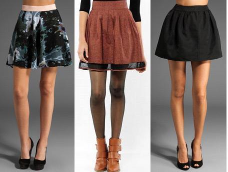 Jack by BB Dakota Searls Public Enemy Skirt, Grey Antics by Grey Ant Full Pleated Mini Skirt, and Patterson J. Kincaid Matilda Winter Crinkle Taffeta Skirt