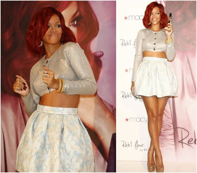 Rihanna released her first fragrance, Reb'l Fleur, in February 2011