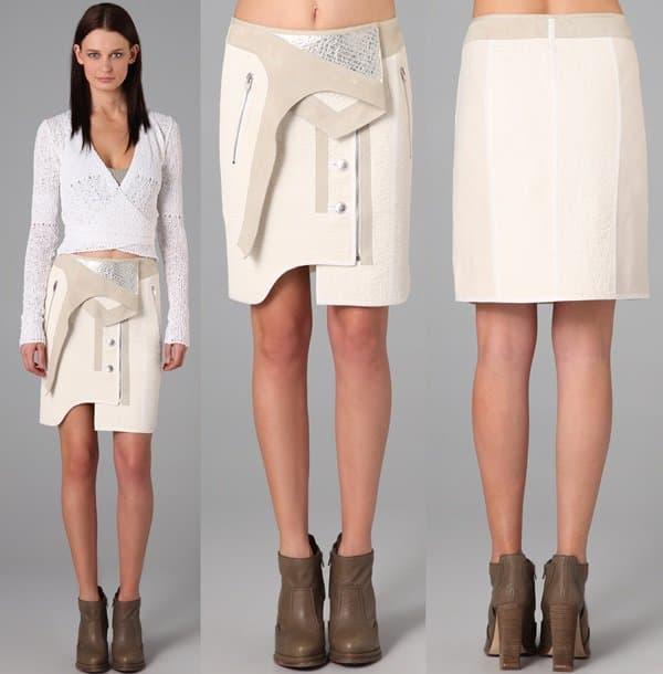 Alexander Wang Paneled Combo Skirt Model