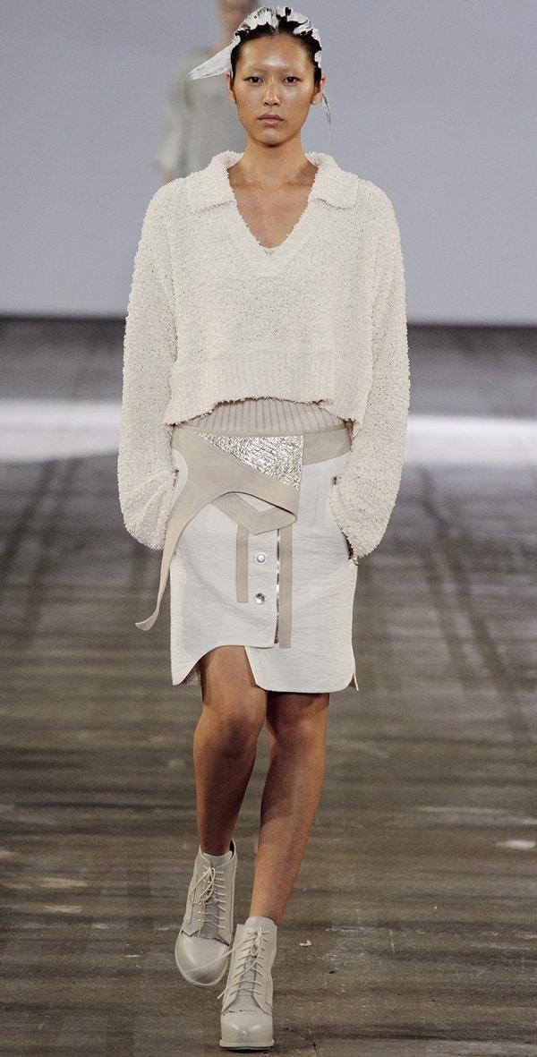 Alexander Wang Paneled Combo Skirt Runway