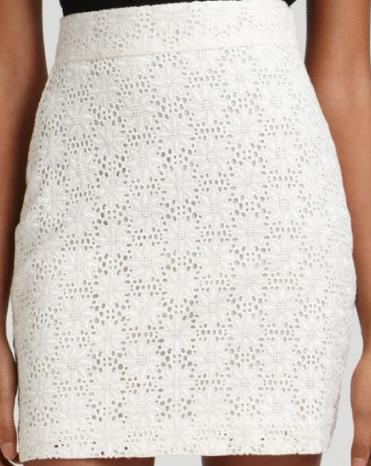 French Connection Daisy Doile Eyelet Skirt