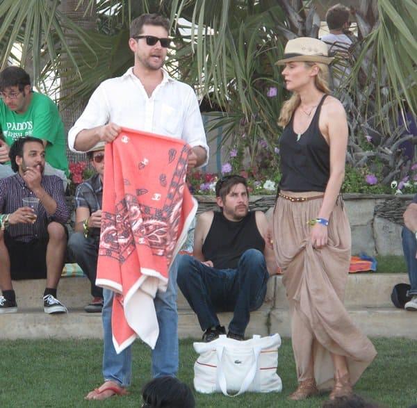 Joshua Jackson and girlfriend Diane Kruger