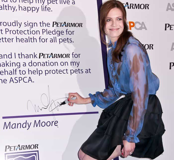 Mandy Moore and the ASPCA celebrate the launch of PetArmor and announce a National Awareness Campaign to elevate the importance of pet healthcare in New York City on April 20, 2011
