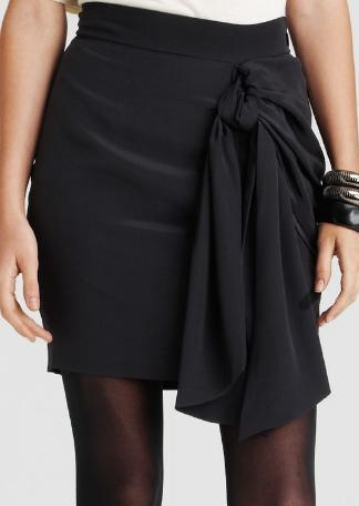 Juicy Loves Glamour Girls by Erin Fetherston Silk Draped Skirt