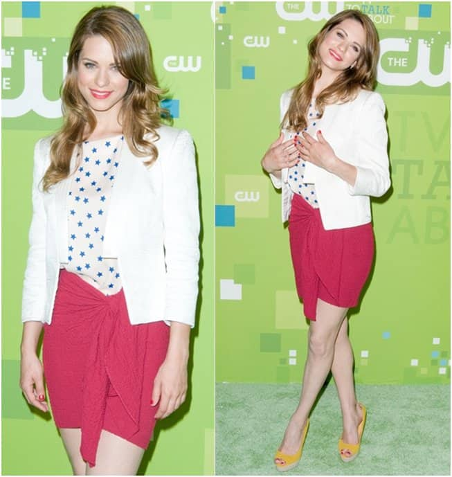 Lyndsy Fonseca attends the 2011 CW Upfront event at Jazz at Lincoln Center in New York City on May 19, 2011