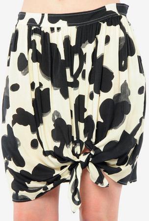 Won Hundred Knot Draped Front Skirt
