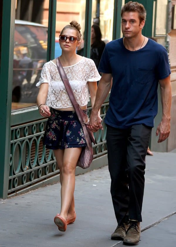 Teresa Palmer and her boyfriend, Scott Speedman, out and about in Soho, New York City, on June 29, 2011