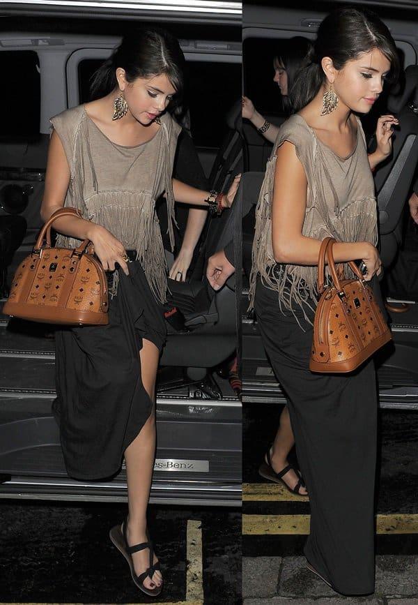 Selena Gomez Maxi Skirt