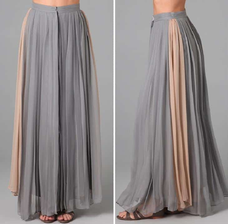 Long Gray Skirt - Skirts