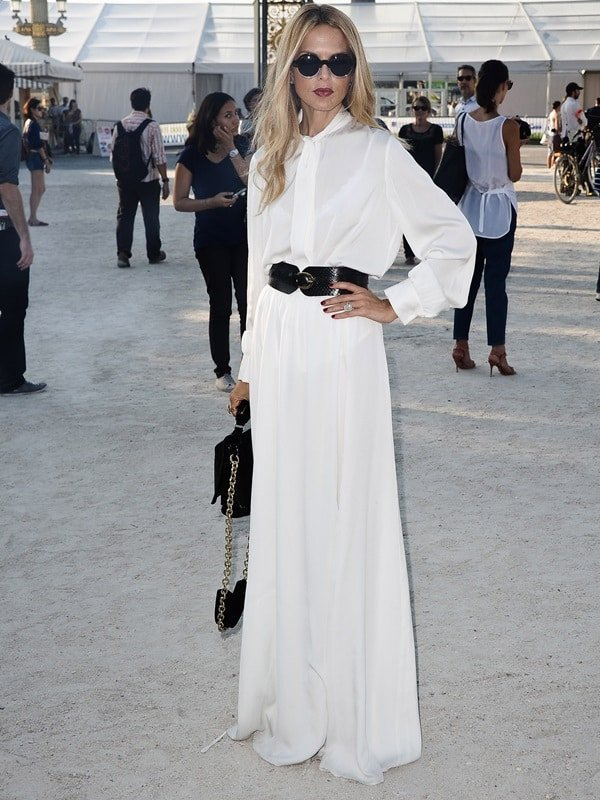 Rachel Zoe attended the Christian Dior show during Paris Fashion Week late last month