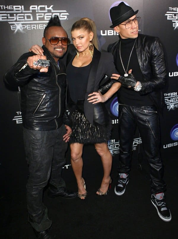 apl.de.ap, Stacy Fergie Ferguson and Taboo attend Ubisoft's The Black Eyed Peas Experience launch party