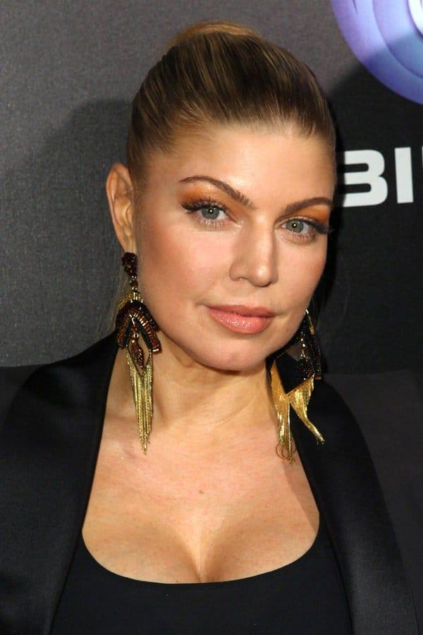 Fergie wears a Splendid cami tank with bra