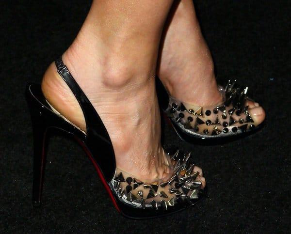 Fergie's studded Christian Louboutin Pik Pik pumps