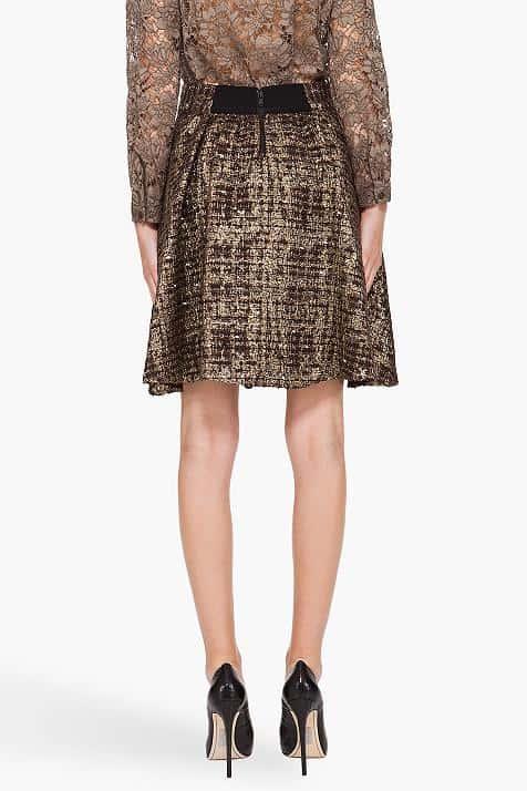 Metallic Alice + Olivia Oshi Skirt