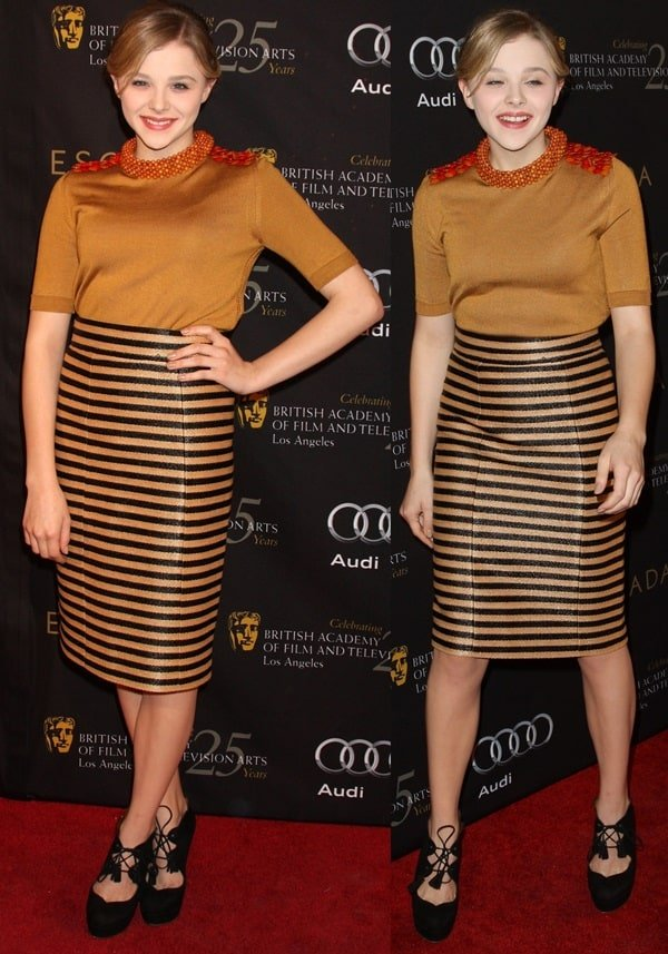 Chloe Moretz at the BAFTA 18th Annual Awards Season Tea Party held at the Four Seasons Hotel