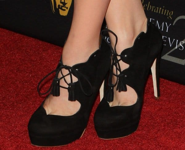 Chloe Moretz's feet in Rupert Sanderson shoes