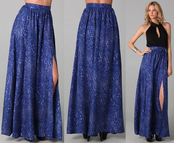 Rachel Zoe Vanessa Maxi Skirt in Blue