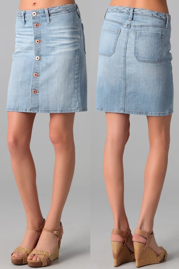 AG Adriano Goldschmied Lula A-Line Denim Skirt