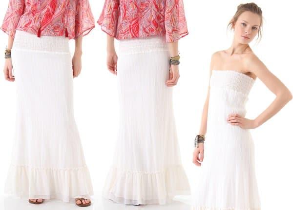 Ella Moss Havana Skirt in White