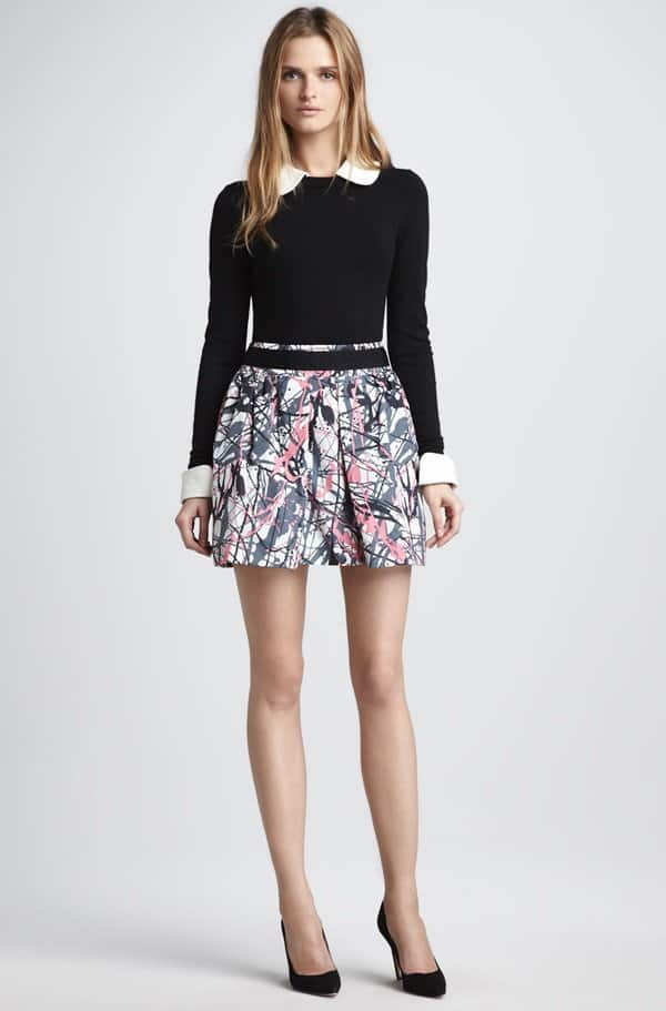 Milly Paris Pleated Skirt