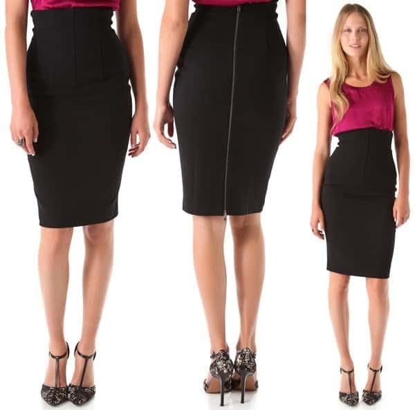 Rachel Zoe Georgina Corset Skirt in Black