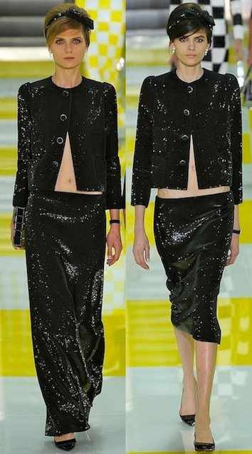 Embellished skirts designed by Marc Jacobs for Louis Vuitton