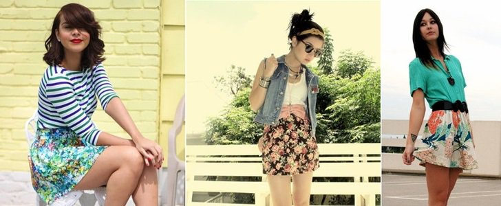 5 Fashion Bloggers Show How to Wear a Floral Mini Skirt